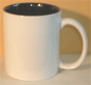 blank mug with black interior