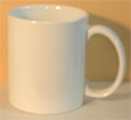blank white mug